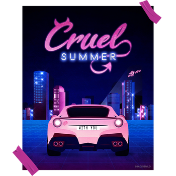 """""""Cruel Summer"""" Concept Poster for Taylor Swift"""