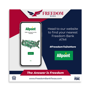 Allpoint App Post for Freedom Bank