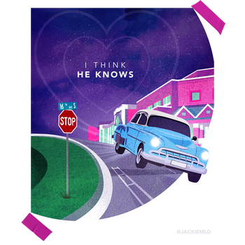 """""""I Think He Knows"""" Concept Poster for Taylor Swift"""