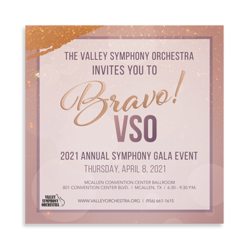 Gala Invitation for Valley Symphony Orchestra