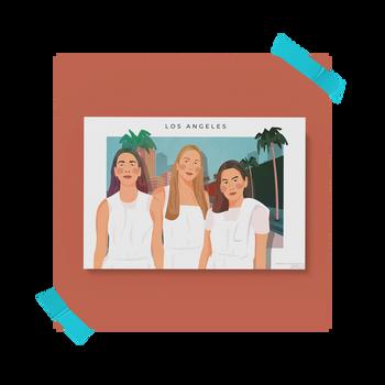 """Los Angeles"" Concept Postcard for HAIM"