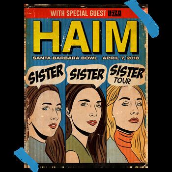"""""""Santa Barbara Bowl"""" Poster for HAIM"""