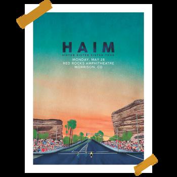 """""""Red Rocks"""" Tour Poster for HAIM"""