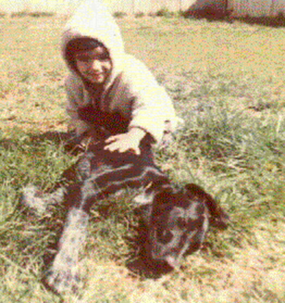 Me and my dog, Samantha, around 1972.