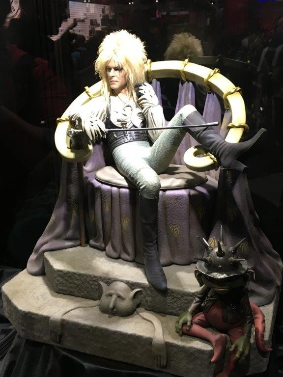 "David Bowie as the Goblin King, from Labyrinth - Statue about 15"" tall."