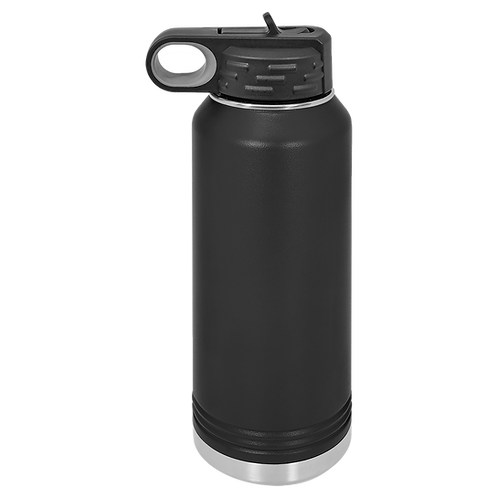 Black Stainless Steel Sports Bottle