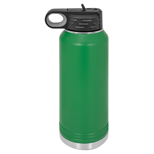 Green Stainless Steel Sports Bottle