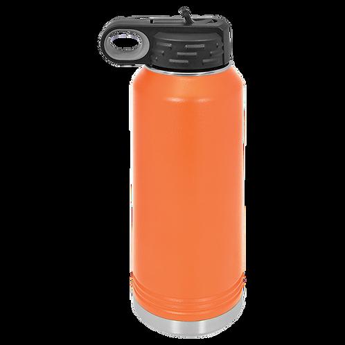 Orange Stainless Steel Sports Bottle