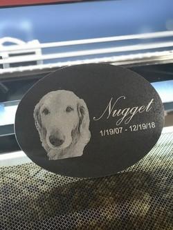 Pet memorials on granite plaque!