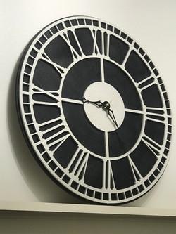 Laser cut wooden clock!