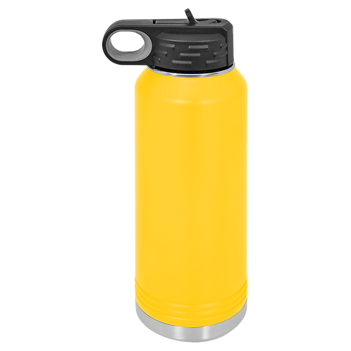 Yellow Stainless Steel Sports Bottle