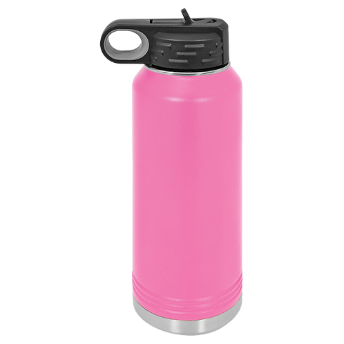 Pink Stainless Steel Sports Bottle