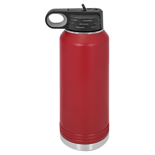 Maroon Stainless Steel Sports Bottle