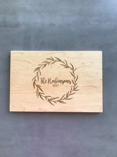 Rosemary Wreath cutting board
