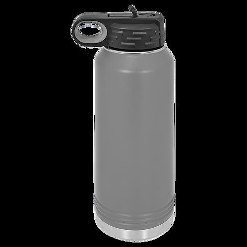 Dark Grey Stainless Steel Sports Bottle