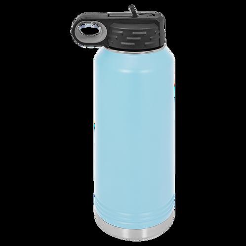 Light Blue Stainless Steel Sports Bottle
