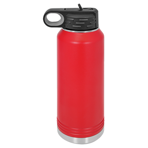 Red Stainless Steel Sports Bottle