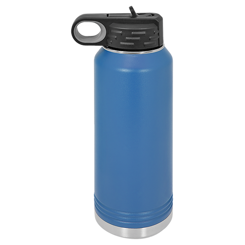 Blue Stainless Steel Sports Bottle