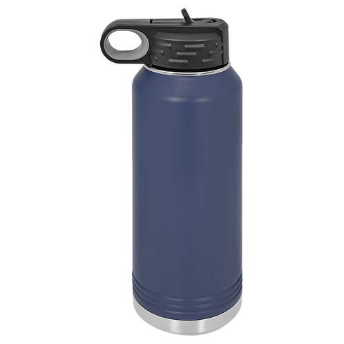 Navy Stainless Steel Sports Bottle