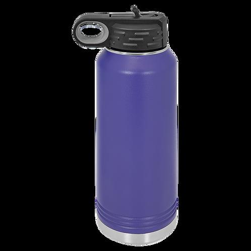 Purple Stainless Steel Sports Bottle