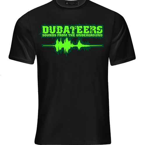 Dubateers Black T-Shirt Apple Green Edition MK2