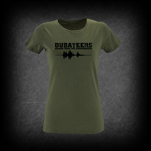 Dubateers Olive GIRLS T-Shirt Black Edition MK2