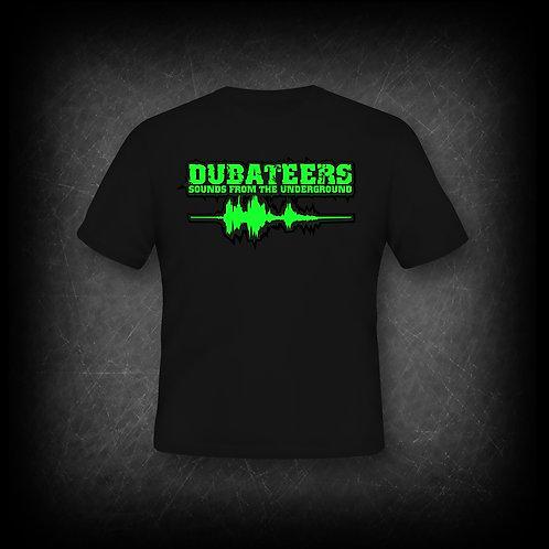 Dubateers Black T-Shirt Neon Green Edition MK2