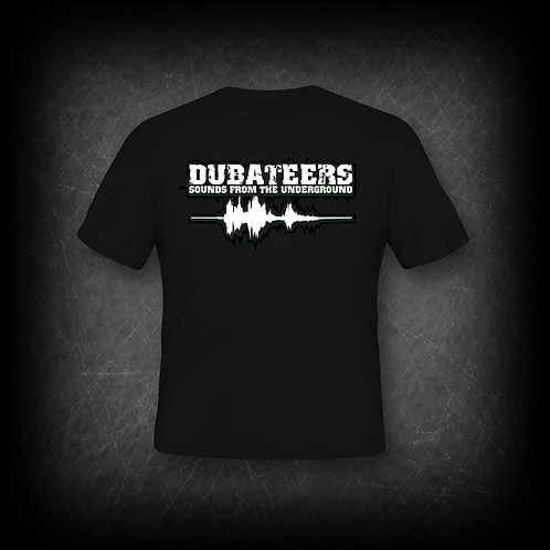 Dubateers Black T-Shirt White Edition MK2