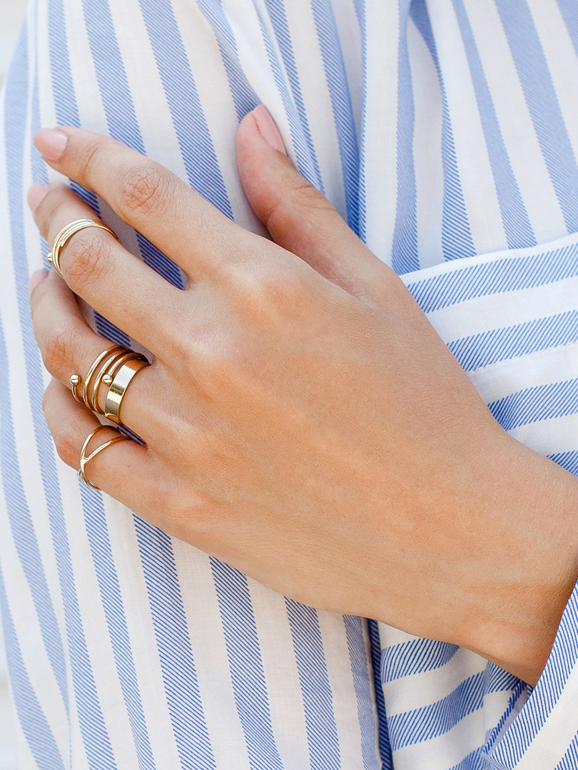 Manicured Hand with Rings