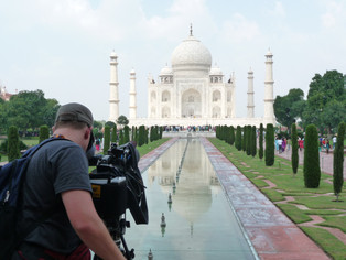 Broll shoot of the Taj Mahal