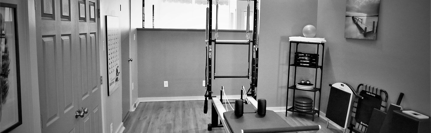 Studio space with state of the art Merrithew Pilates Reformer