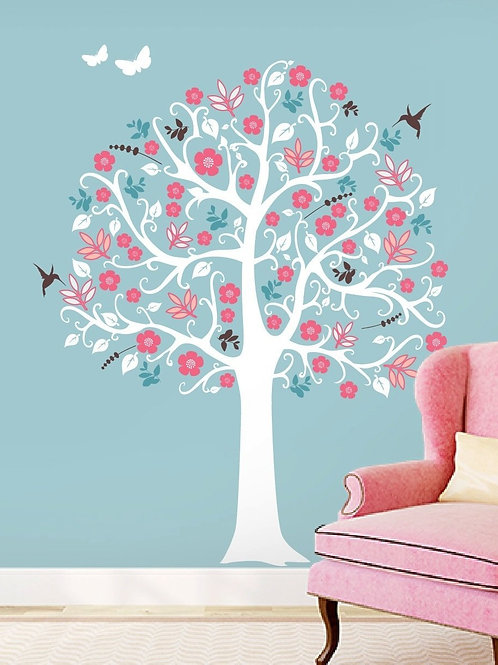 Country Chic Tree Wall Decor Decal