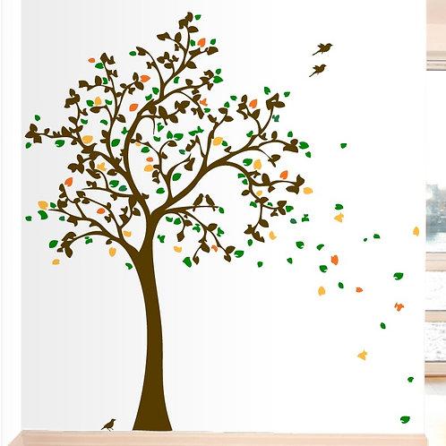 7 FT Tree with 10 Birds Wall Decals Art Sicker Mur