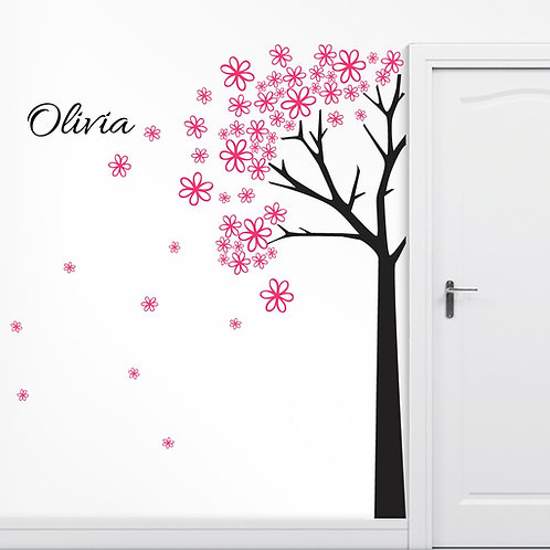 Personalized 7 FT Tall Tree Wall Decal