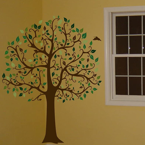 Wall Decal 6 FT. BIG TREE Col. Deco Art Sticker Mural