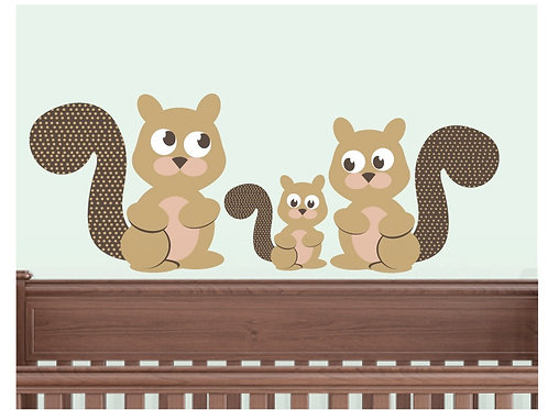 Squirrel Family Wall Decals