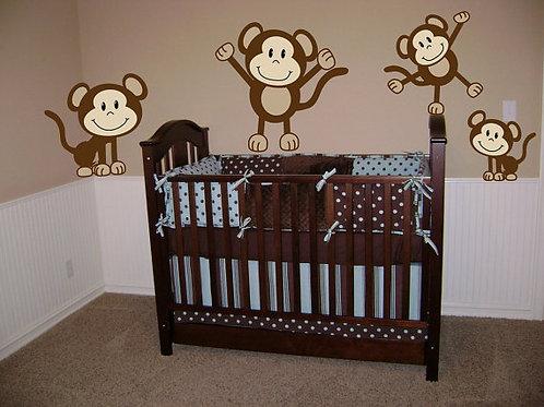 Monkeys Wall Decals Sticker Nursery Decor
