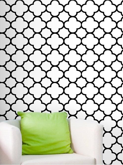 "26""x96"" Self Adhesive Wallpaper, Moroccan Style"