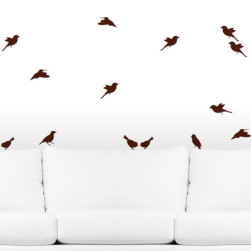 20 Birds Wall Decals