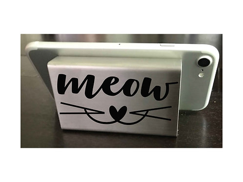 Cat Lovers Cell Phone Stand, Metal Phone Stand, Phone Holder