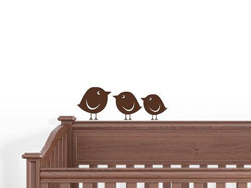 10 Baby Birds Wall Decals Art Decor Stickers