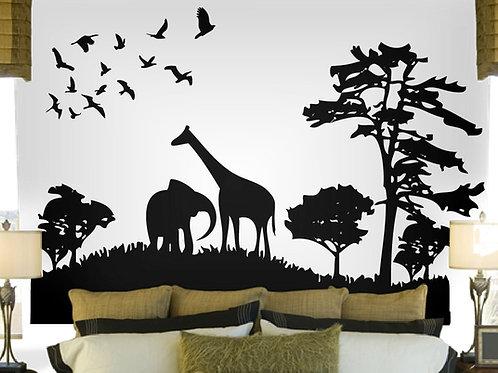 Safari Wall Decal Art Sticker Mural