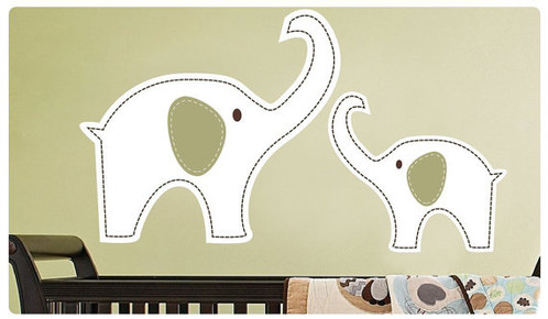 Nursery Decor Mom With Baby Elephant Wall Decal