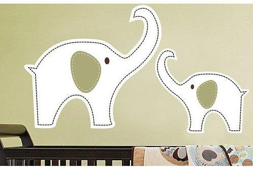 Nursery Decor Mom with Baby Elephant Wall Decal