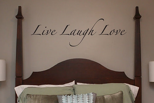WALL DECALS - Live Laugh Love - lettering decal