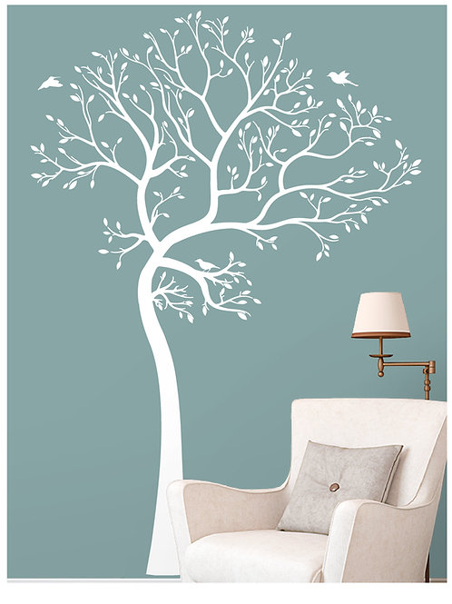 7Ft. Large Wall Decal Tree with Birds Deco Sticker