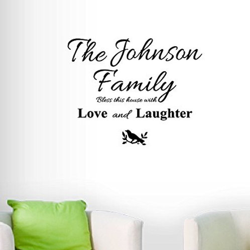 Personalized Family Name Wall Decal - Wall Sticker