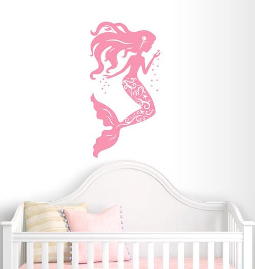 Mermaid Wall Decal Nursery Decor   Girl Decor   Home Decor   Beach Theme