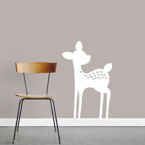 Baby Deer Wall Decal Fawn Vinyl Art Sticker Decor