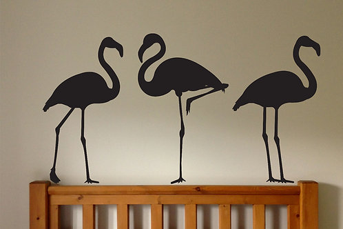 Kit with 3 Flamingos Wall Decal